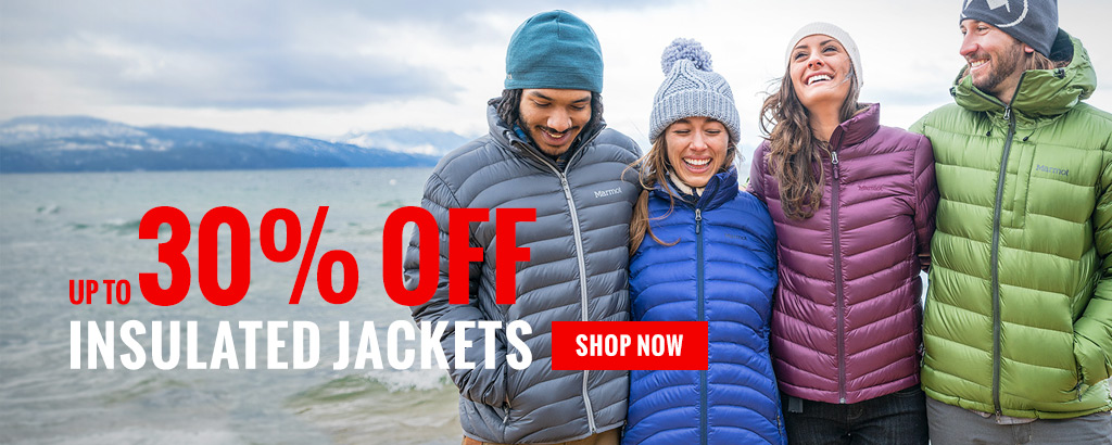 Up to 50% off down/insulated jackets