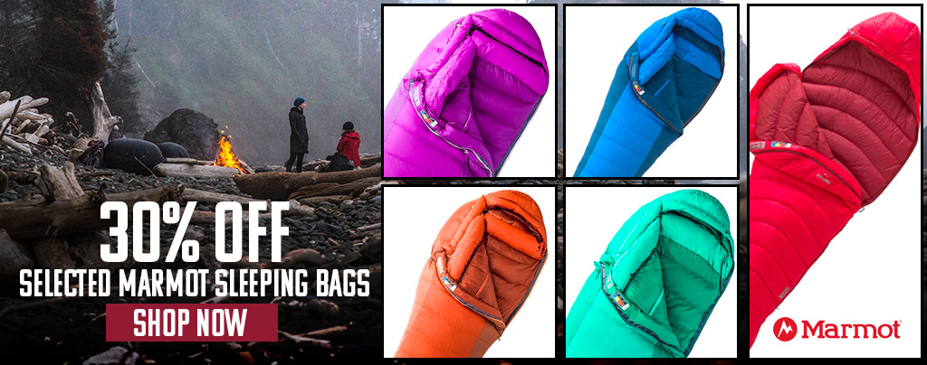 selected Marmot sleeping bag sale 20%