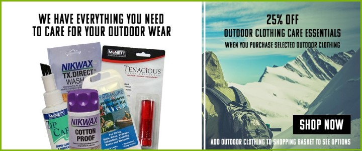 25% Off Outdoor Clothing Care