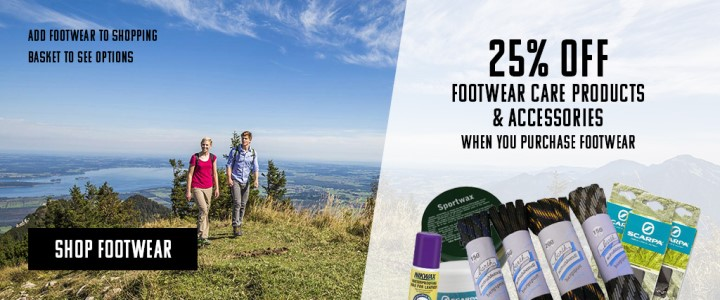 25% Off Footwear Care Products and Accessories