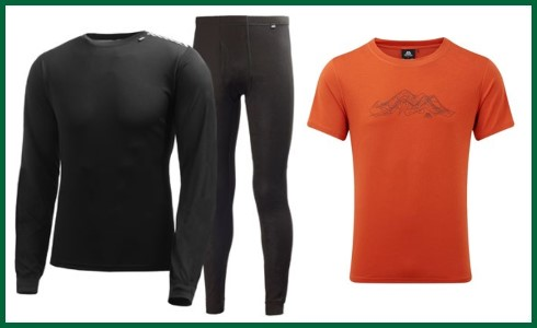 Men's Base Layers & T Shirts