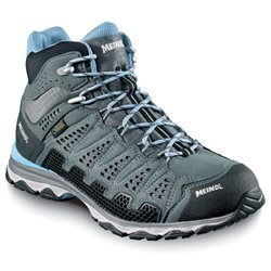 Meindl Womens X-SO 70 Mid Walking / Hiking Boots (Options: UK 7 Anthracite/Azure, UK 7½ Anthracite/Azure, UK 4 Anthracite/Azure)
