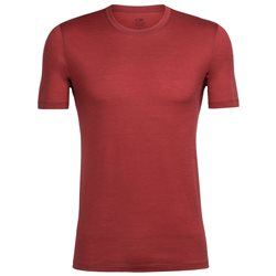 Icebreaker Mens Tech Lite SS Crewe Base Layer (Option: S Vintage Red)