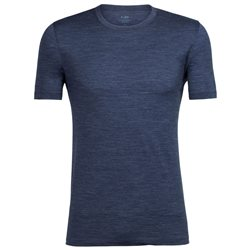 Icebreaker Mens Tech Lite SS Crewe Base Layer (Option: S Fathom Heather)