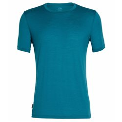 Icebreaker Mens Tech Lite SS Crewe Base Layer (Options: M Isle, L Isle, XL Isle, XXL Isle)