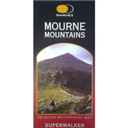 Harvey Maps Mourne Mountains Superwalker Laminated