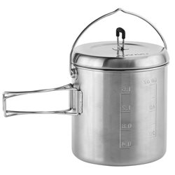 Solo Stove Pot 1800 1.8L Lightweight Stainless Steel Pot Solo Titan