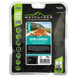 Wayfayrer Food Beans & Burgers Ready To Eat Camping / Backpacking Food
