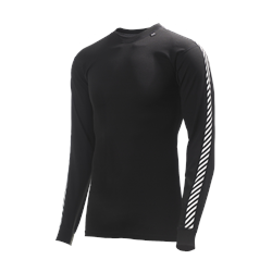 Helly Hansen Mens Lifa Stripe Crew L/S Base Layer