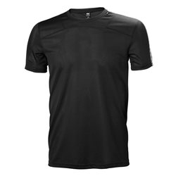 Helly Hansen Mens Lifa T Base Layer (Options: S Black, M Black, L Black, XL Black, XXL Black)