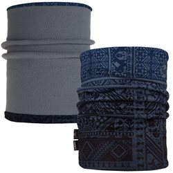 Buff Reversible Polar Neckwarmer - Eskor Perfuse Blue/Flint