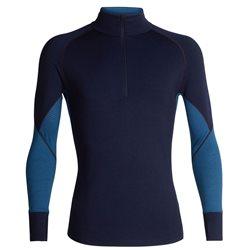 Icebreaker Mens 260 Body Fit Zone LS Half Zip Thermal Base Layer
