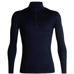 Icebreaker Mens 200 Oasis LS Half Zip Thermal Base Layer (Options: S Midnight Navy, M Midnight Navy, XL Midnight Navy, XXL Midnight Navy)