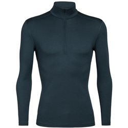 Icebreaker Mens 200 Oasis LS Half Zip Thermal Base Layer (Options: M Prussian Blue, XL Prussian Blue)