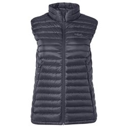 Rab Womens Microlight Down Insulated Vest (Options: 8 Steel/Passata, 10 Steel/Passata, 12 Steel/Passata, 14 Steel/Passata, 16 Steel/Passata, 18 Steel/Passata)
