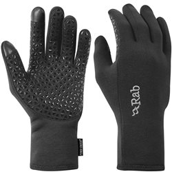 Rab Mens Power Stretch Contact Grip Gloves (Options: S Beluga, M Beluga, L Beluga)