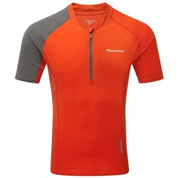 Montane Mens Fang Zip T-Shirt Base Layer