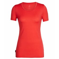 Icebreaker Womens Tech Lite SS Low Crewe Base Layer