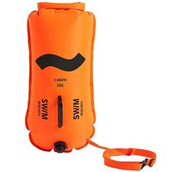 C Skins Swim Research Swim Buoy 28L High Visibility Dry Bag Float