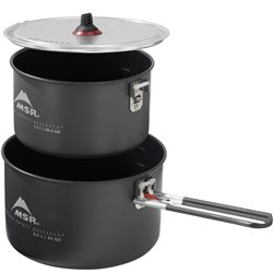 MSR Ceramic 2-Pot Set 2.5L / 1.5L Non-stick Hard Anodized Aluminum Pots