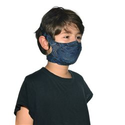 Buff Kasai Night Blue Kids Filter Mask With 5 Replacement Filters