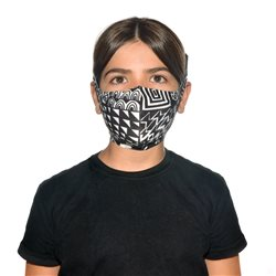 Buff Bawe Black Kids Filter Mask With 5 Replacement Filters