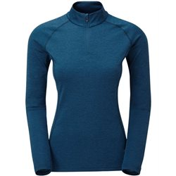 Montane Womens Dart LS Zip Neck All-season Tech Base Layer