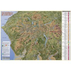 Fir Tree Maps Wainwright Outlying Fells Lake District Tick & Date List Map