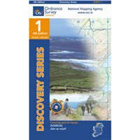 OS Ireland 01 Donegal / Dungloe 1:50000 Map