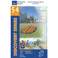 OS Ireland 54 Slieve Blooms 1:50000 Map