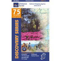 OS Ireland 75 Kilkenny/Tiperary 1:50000 Map