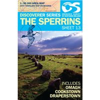 OS Northern Ireland 13 Sperrins 1:50000 Map
