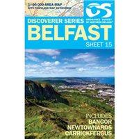 OS Northern Ireland 15 Belfast 1:50000 Map