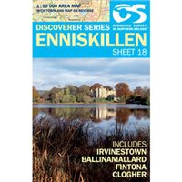 OS Northern Ireland 18 Enniskillen 1:50000 Map