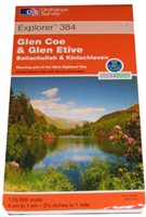 Ordnance Survey 384 Glen Coe 1:25 000