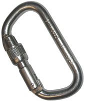 Foin D Locking Steel Screwgate Carabiner