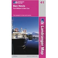 Ordnance Survey 41 Ben Nevis 1:50000 Map