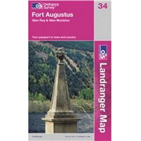 Ordnance Survey 34 Fort Augustus 1:50000 Map