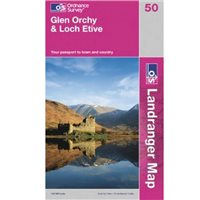 Ordnance Survey 50 Glen Orchy 1:50000 Map