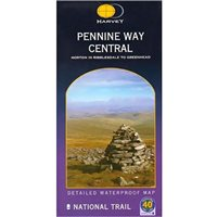 Harvey Maps Pennine Way Central Route Map