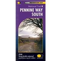 Harvey Maps Pennine Way South Route Map Map