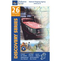 OS Ireland 26 Cavan/Fermanagh/Leitrim/Roscommon/Monagan 1:50000 Map