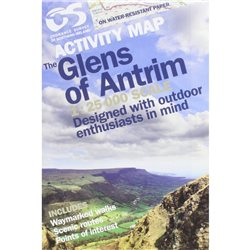 OS Northern Ireland Glens of Antrim 1:25000 Laminated Map