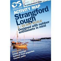 OS Northern Ireland Strangford Lough 1:25000 Map