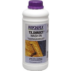 Nikwax TX-Direct 1L Waterproofing Bottle for Wet Weather Fabrics