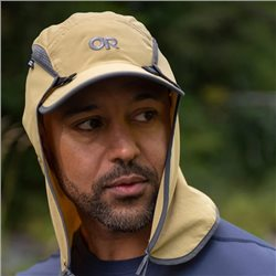 Outdoor Research Unisex Sun Runner UPF 50+ Cap with Removable Cape (Options: XL Khaki, L Khaki, M Khaki, S Khaki)