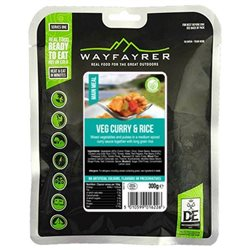 Wayfayrer Food Vegetable Curry & Rice Ready To Eat Backpacking Food