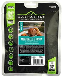 Wayfayrer Food Meatballs & Pasta Ready To Eat Backpacking Food