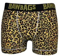 Bawbags Mens Cool De Sacs Underwear - Yellow Leopard