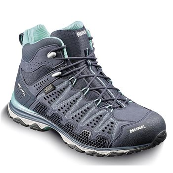 Meindl Womens X-SO 70 Mid Walking / Hiking Boots Violet-Anthracite - Click to view larger image